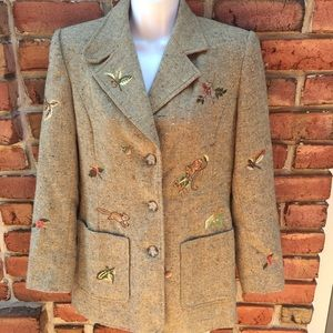 Together Tan Tweed Blazer Embroidered Squirrel 4